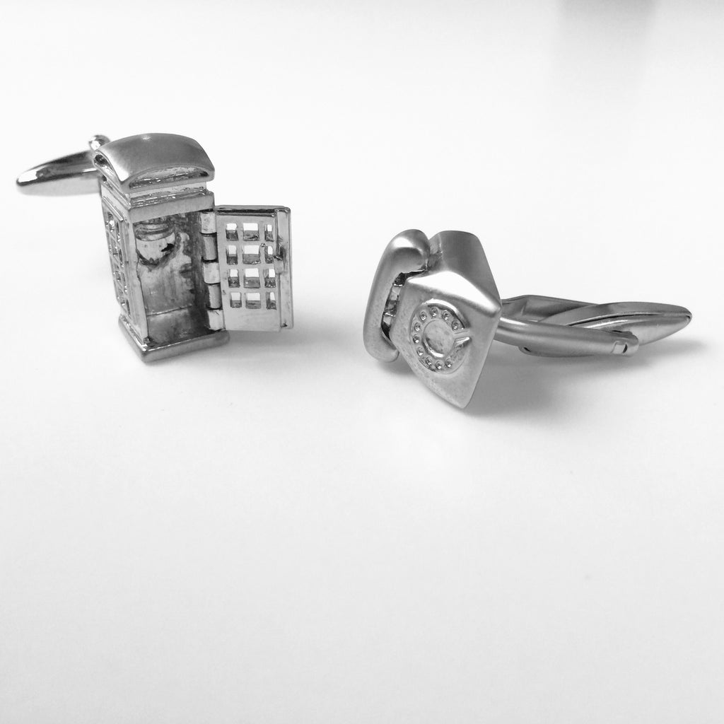 Telephone Booth Cufflinks
