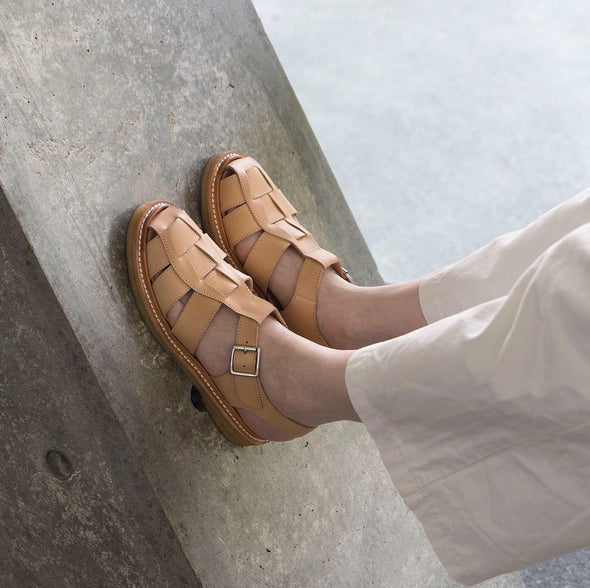 Handmade Leather Gurkha Sandals - Skin