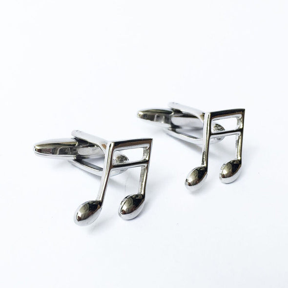 Designer cufflinks - Musical Note Cufflinks