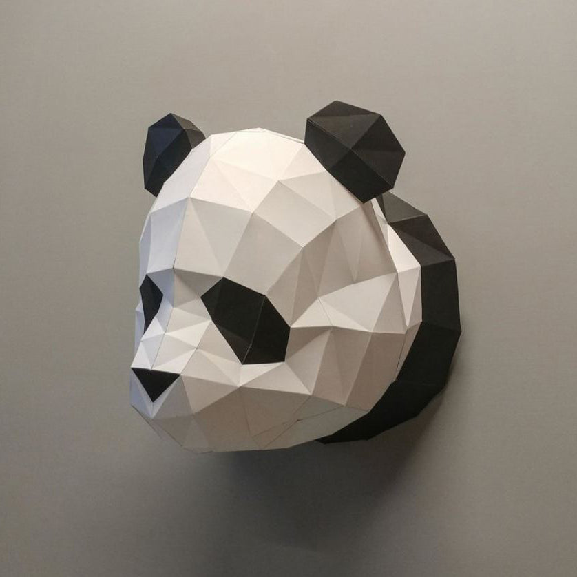 Origami Panda Head DIY Set
