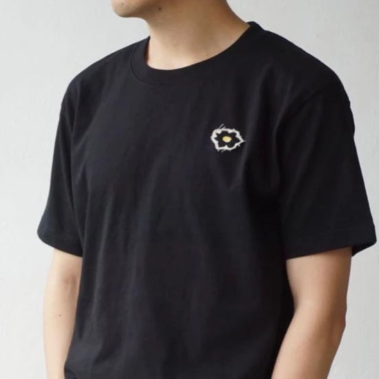 Glue Original T-shirt with flower embroidery - Black