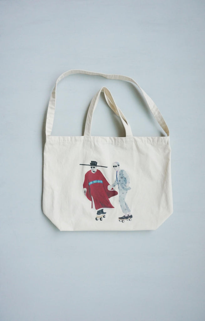 Zishi x GLUE Tote Bag ( Large Red )