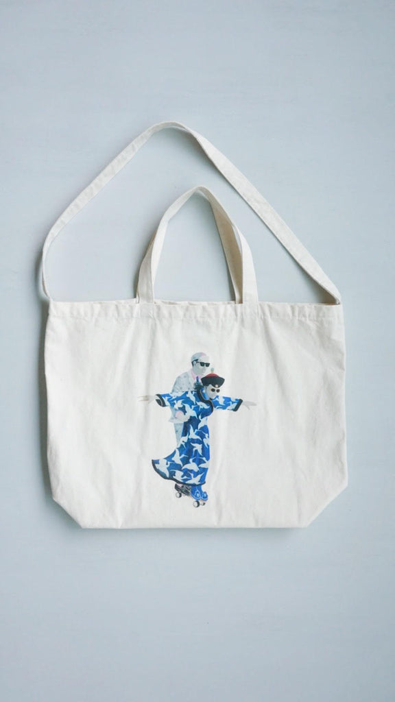 Zishi x GLUE Tote Bag ( Large Blue)
