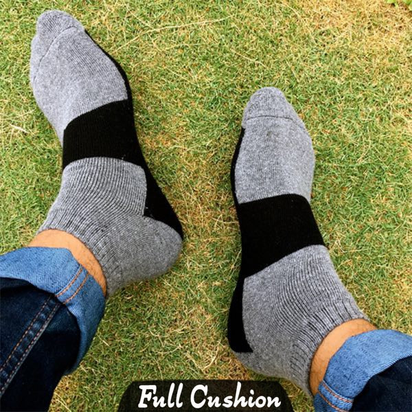 Grey Cushion Socks (V33)