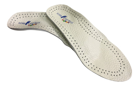 Sole Control Starz Children's White Leather Children's Insoles, Arch Supports,