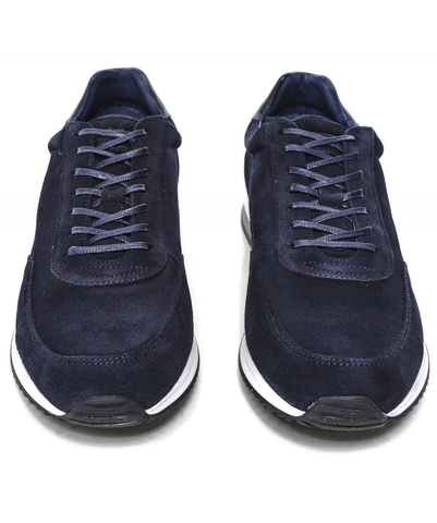 Bannister navy suede