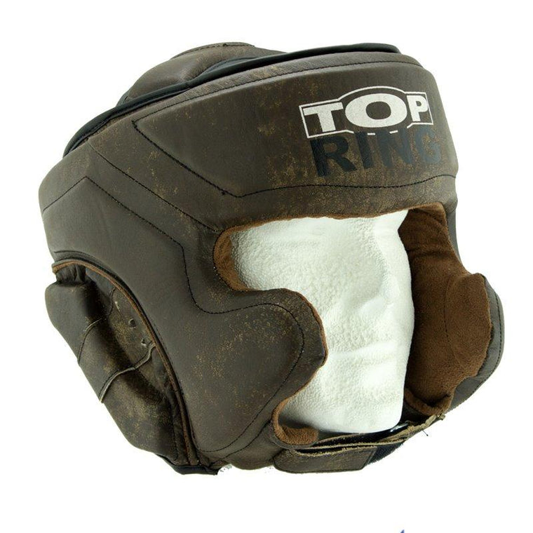 Casco BOXEO Vintage piel TOP-RING