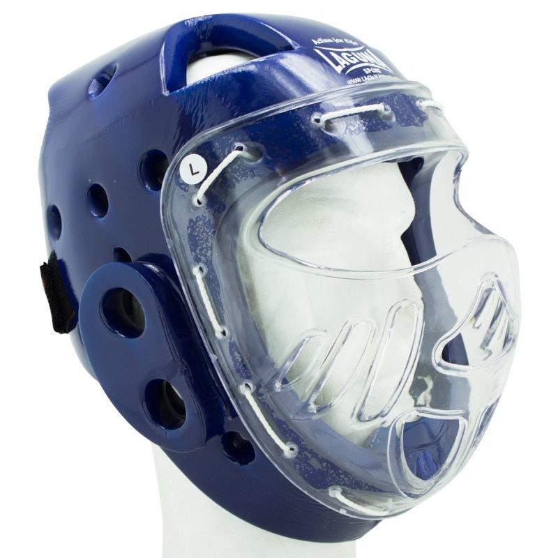 Casco Integral con Máscara Azul