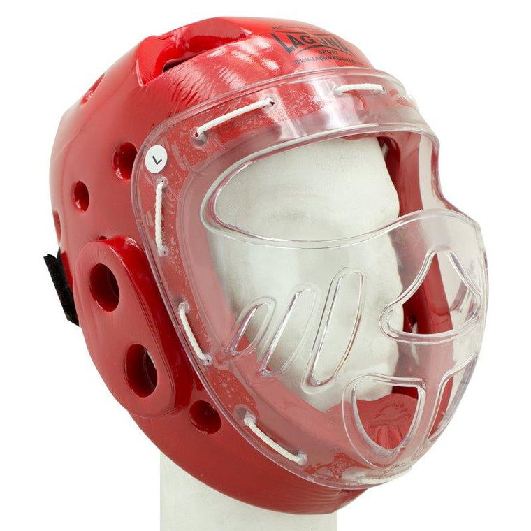 Casco Integral con Máscara Rojo