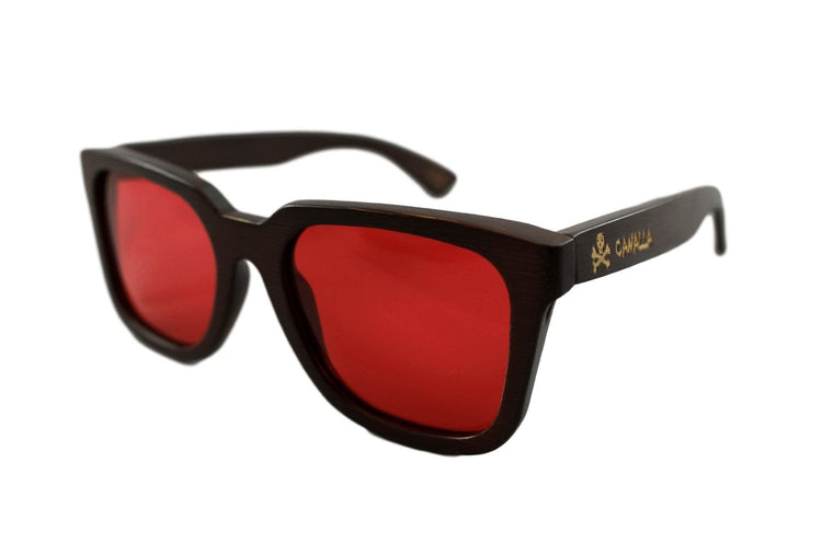 Gafas Madera CANALLAStyle Wood Red Polarized