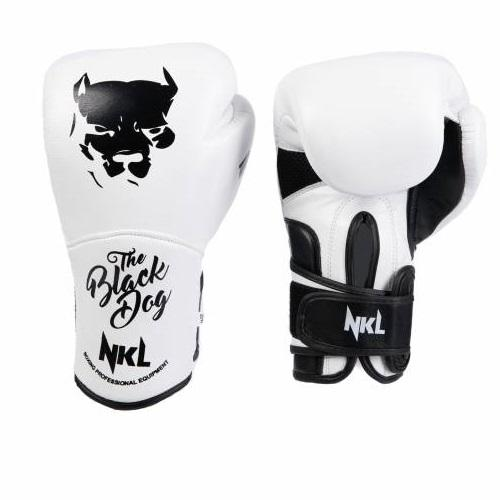 Guantes Boxeo BLACK DOG 2.0 Blanco y Negro