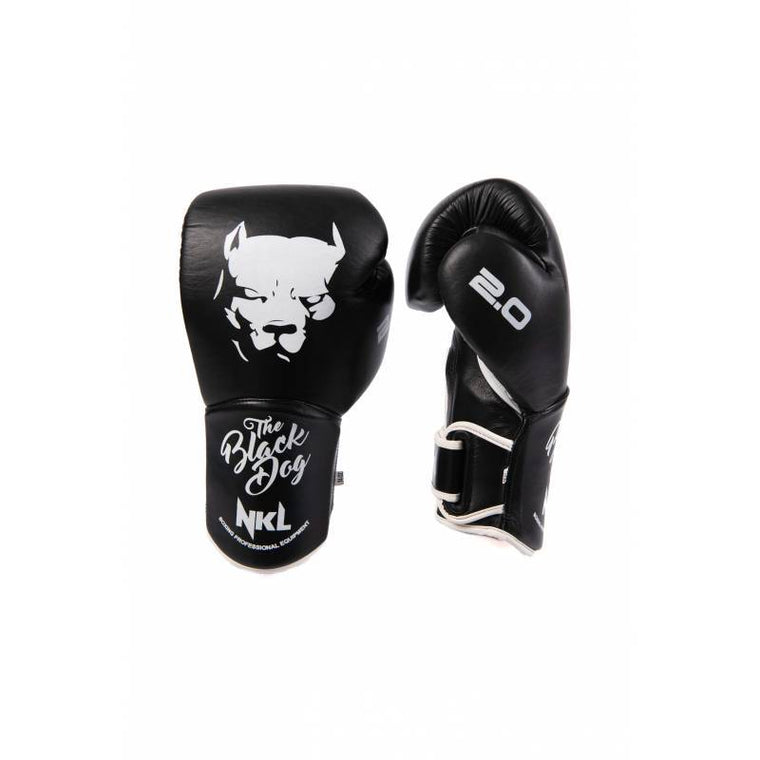 Guantes Boxeo BLACK DOG 2.0 Negro y Blanco
