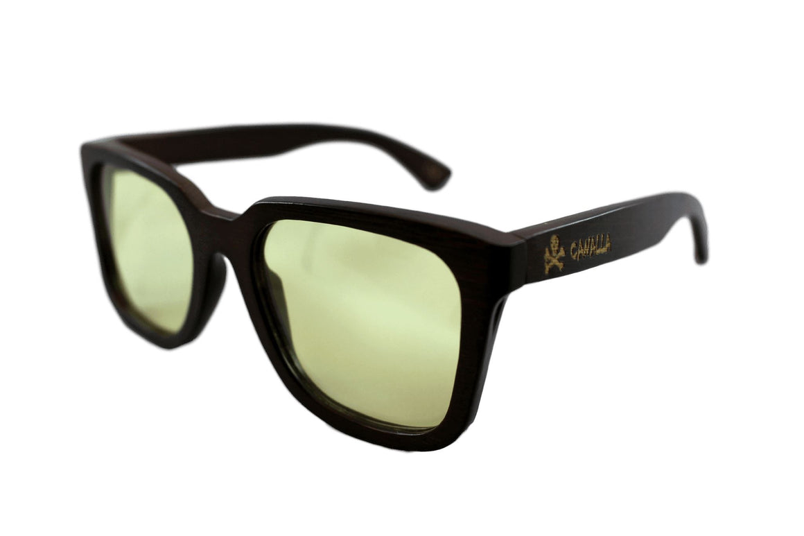 Gafas Madera CANALLAStyle Wood Yellow Rider Polarized