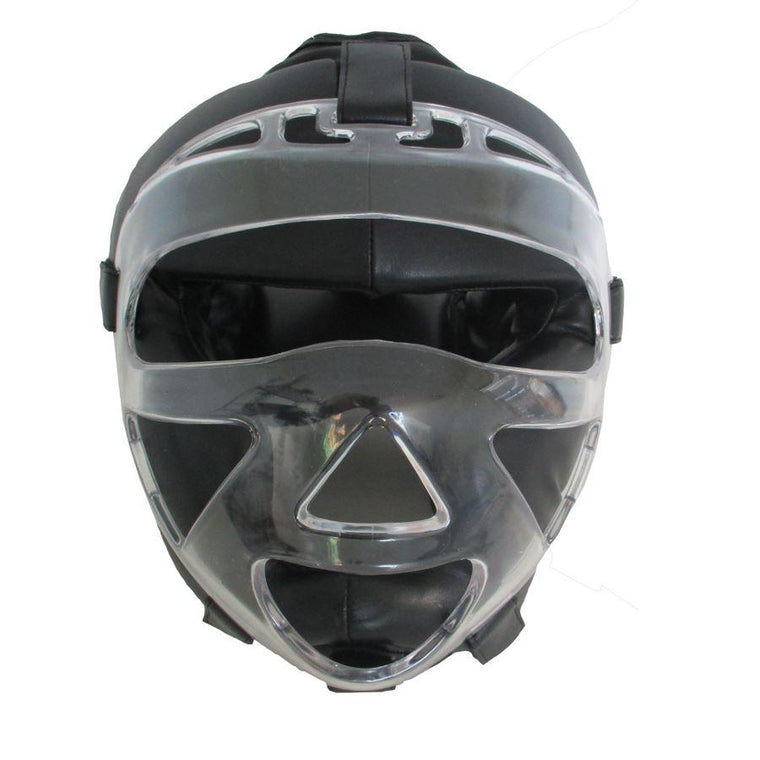 Casco Full Protection con Máscara Transparente