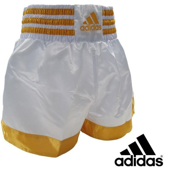 SHORT ADIDAS THAI-BOXING BLANCO/DORADO
