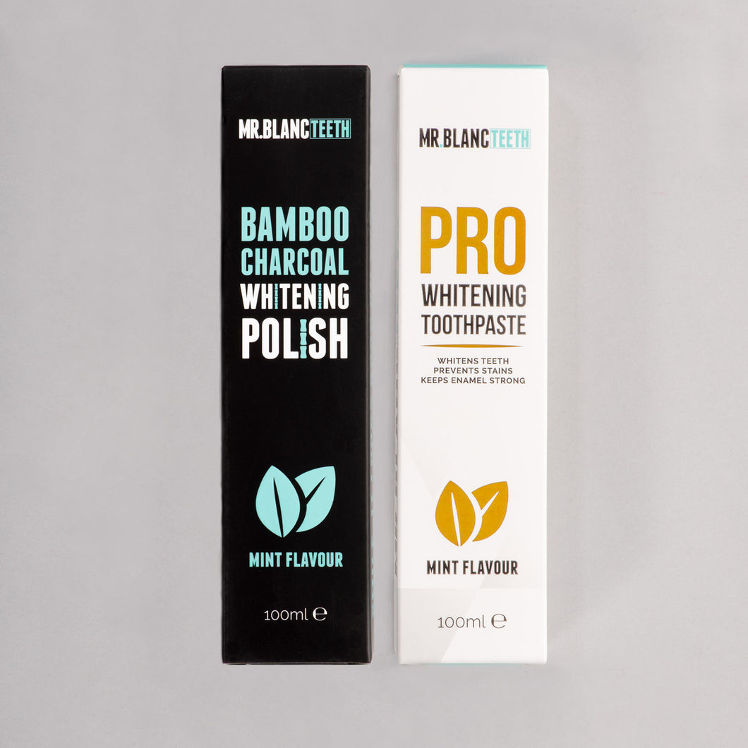 Mr Blanc Teeth Whitening Toothpaste Bundle
