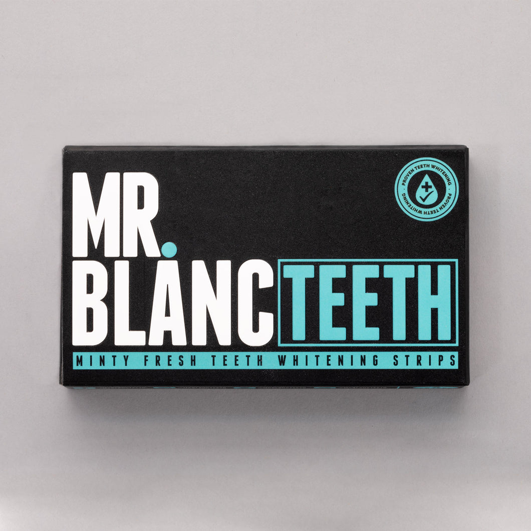 Mr Blanc Teeth Whitening Strips - 2 Week Supply