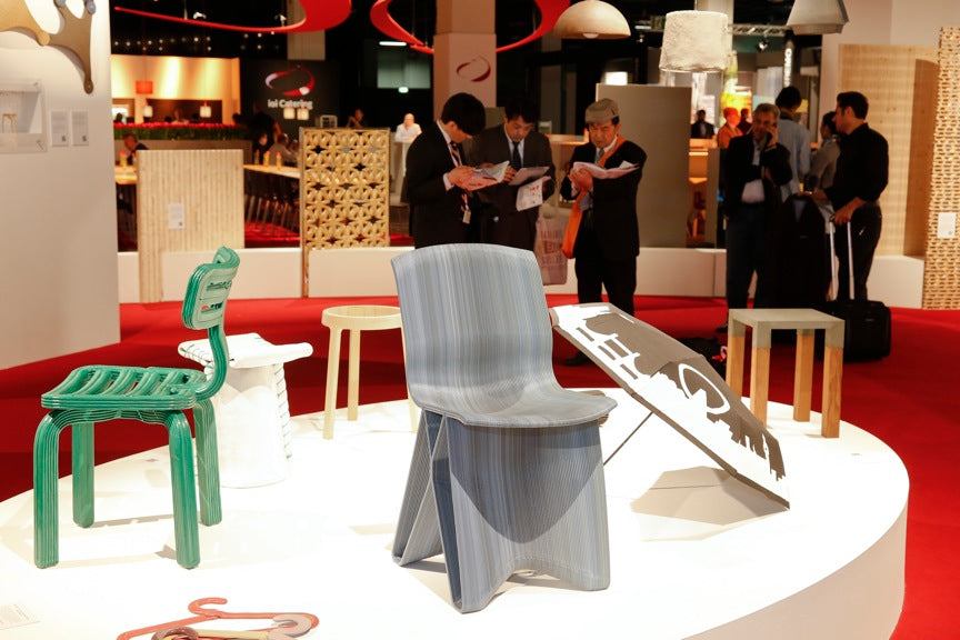 haute innovation interzum koln cologne sacha peters dirk vander kooij chubby chair flow dining chair