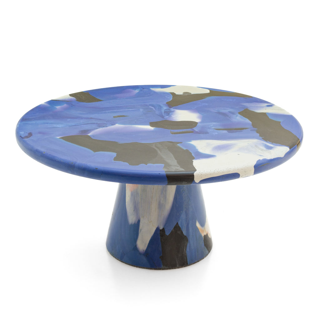 Blue Devil side table Ø65x30 made out of recycled material by Dirk Vander Kooij