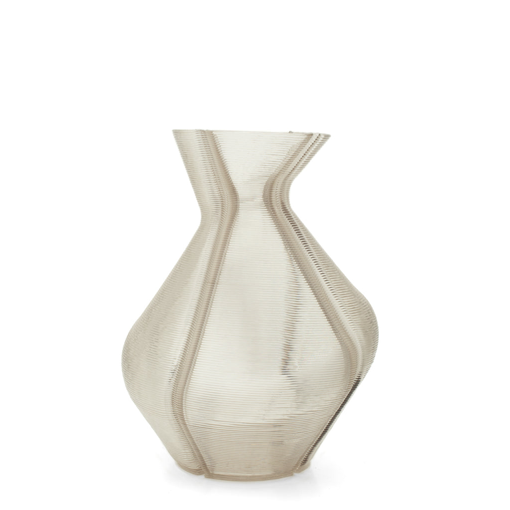 Changing Vase large made out of recycled material with a 3D print robot by dirk vander kooij