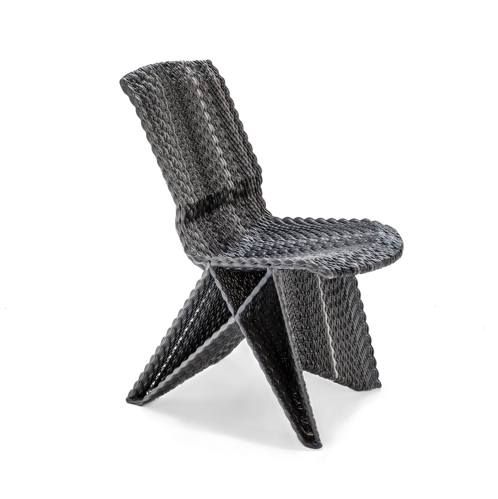 Endless Chair, dirk vander kooij van der dutch design awards robot printed 3d pulse stripes grey recycled cd plastic
