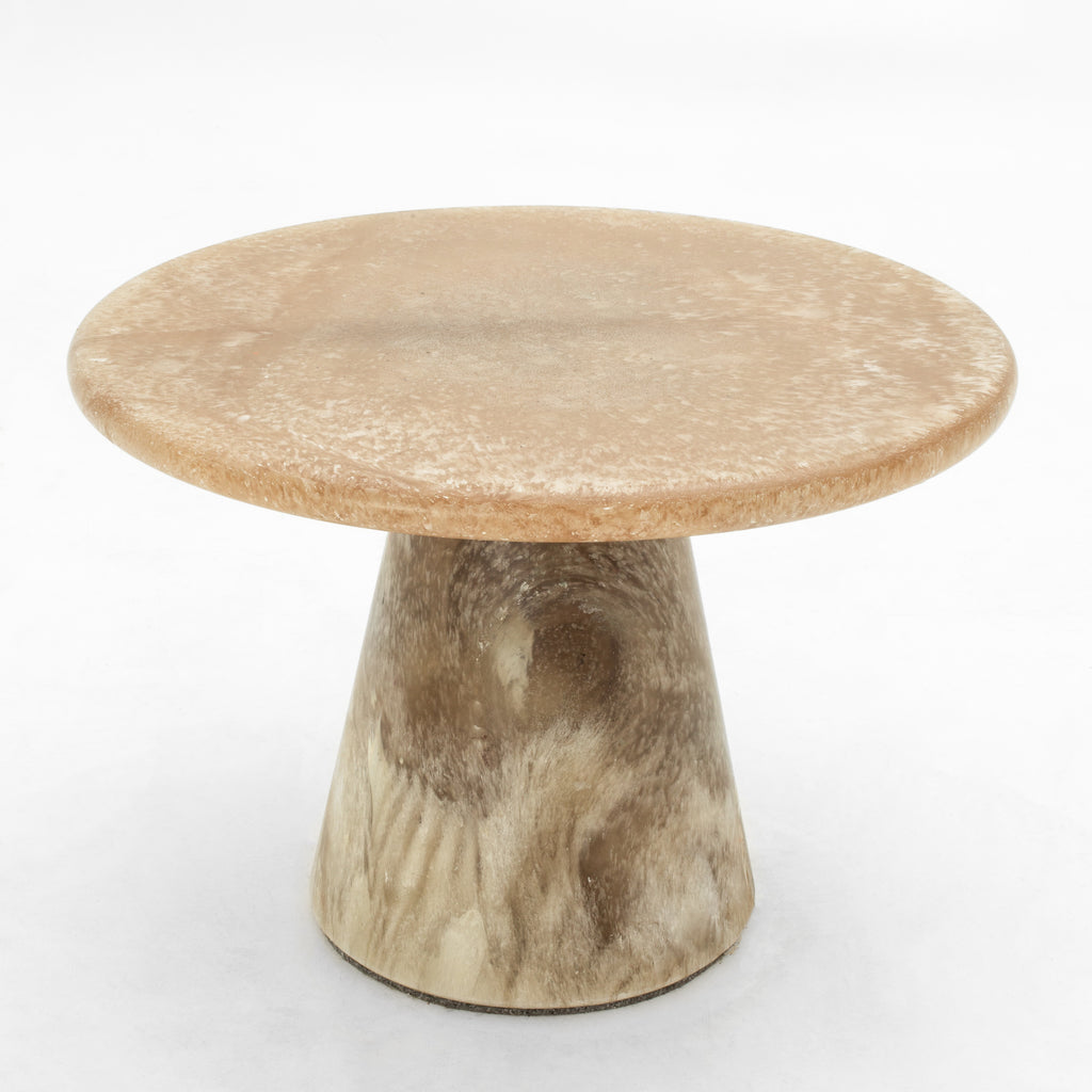 Goldstone side table 60x40 made out of recycled material by dirk vander kooij