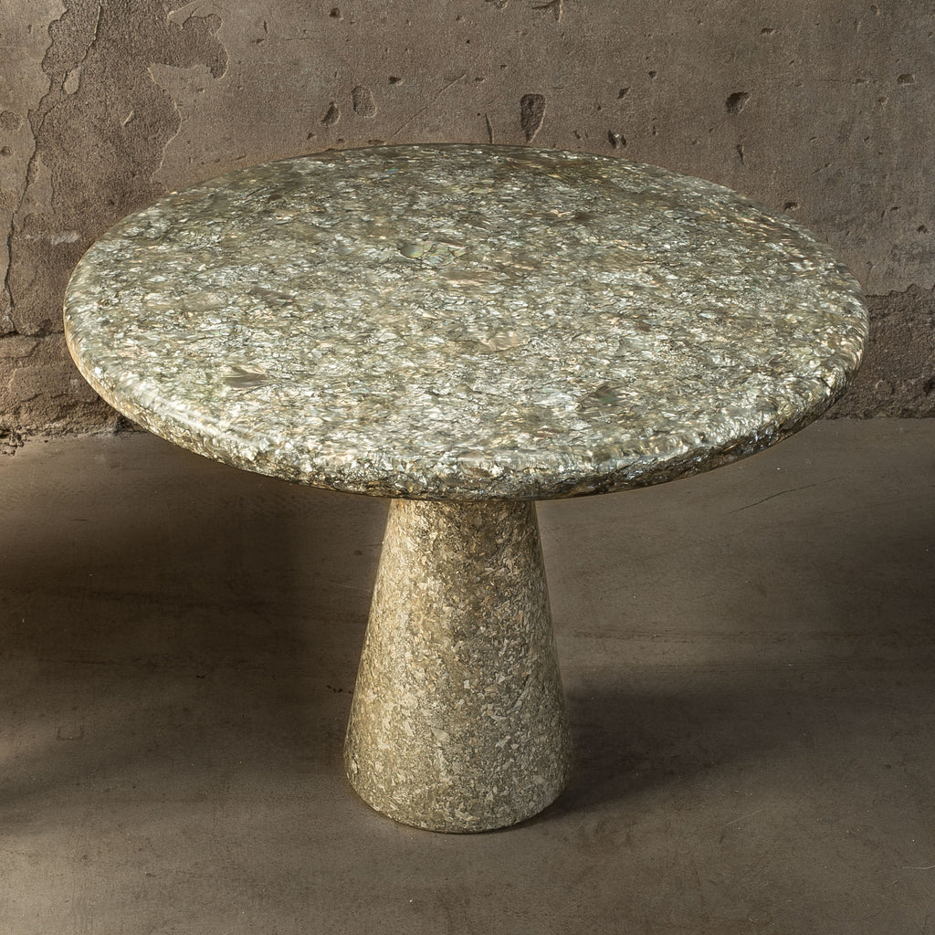 meltingpot side table wavelets 60x45 made out of recycled material by dirk vander kooij