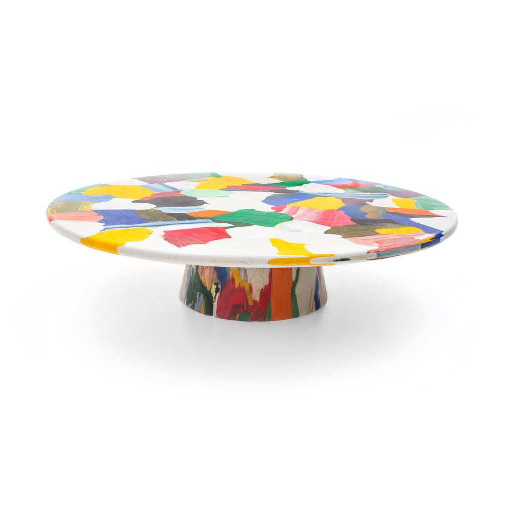 meltingpot side table multicolour 120x30 made out of recycled material by dirk vander kooij