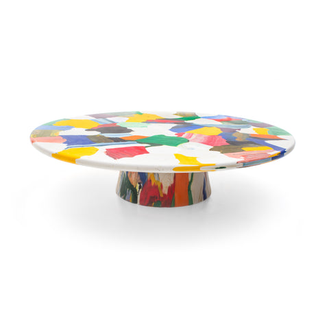 featured - meltingpot side table multicolour 120x30 made out of recycled material by dirk vander kooij