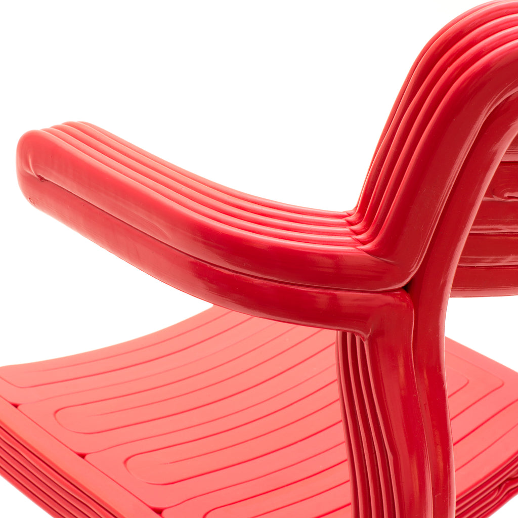 rvr chair detail made out of recycled material with 3d print robot by dirk vander kooij