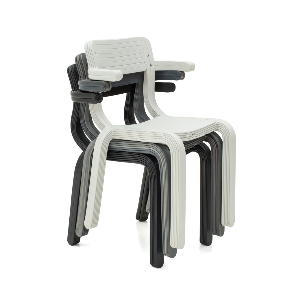 rvr chair made out of recycled material with 3d print robot by dirk vander kooij