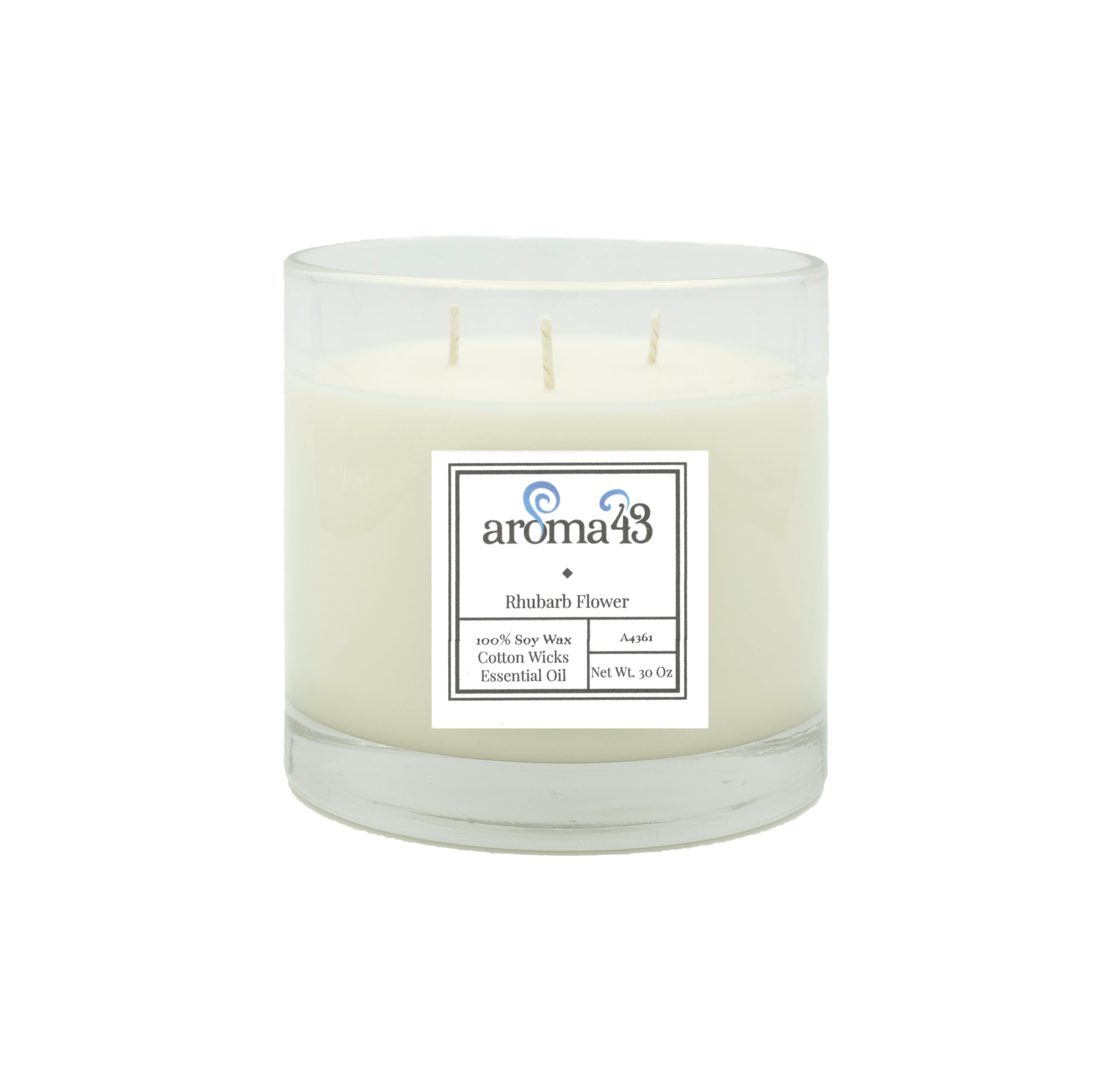 Rhubarb Flower Large 3 Wick Signature Candle