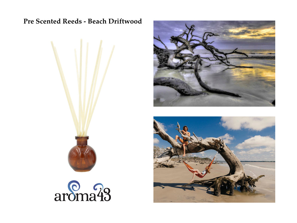 Beach Driftwood Pre Scented Reeds