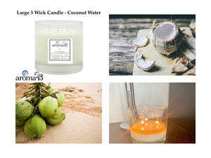 Coconut Water Large 3 Wick Signature Candle