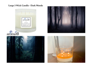 Dark Woods Large 3 Wick Signature Candle