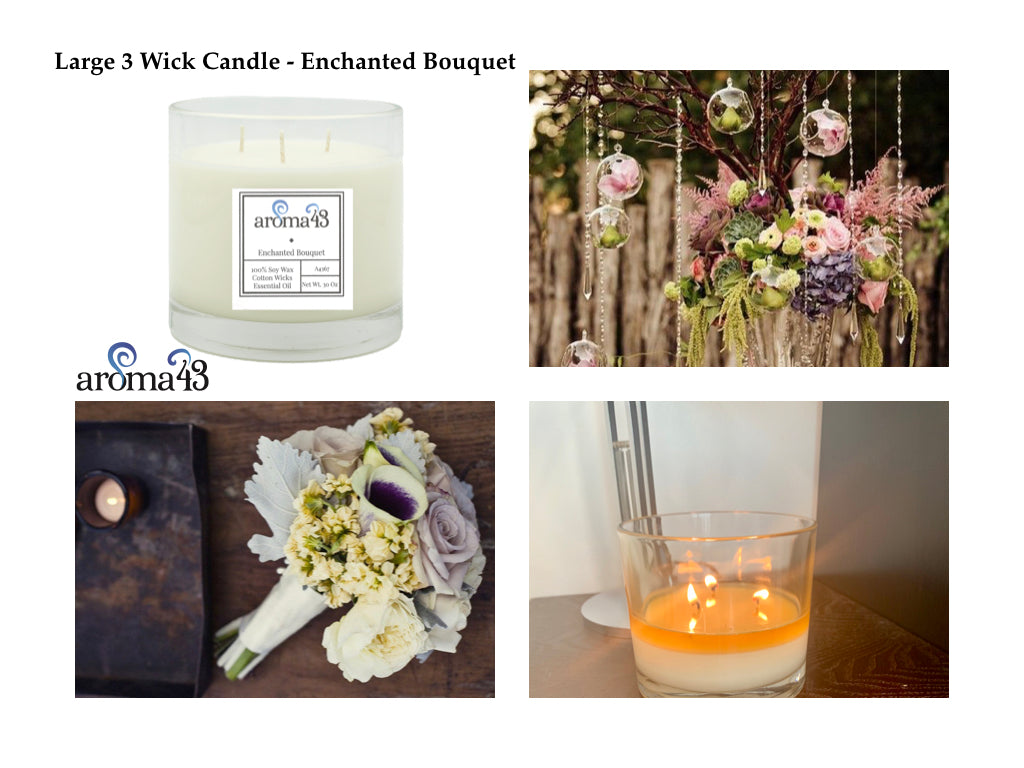 Enchanted Bouquet Large 3 Wick Signature Candle
