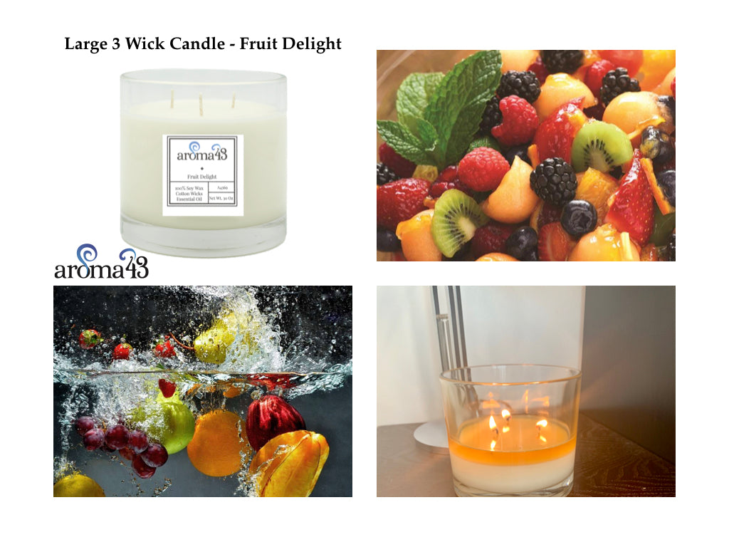Fruit Delight Large 3 Wick Signature Candle