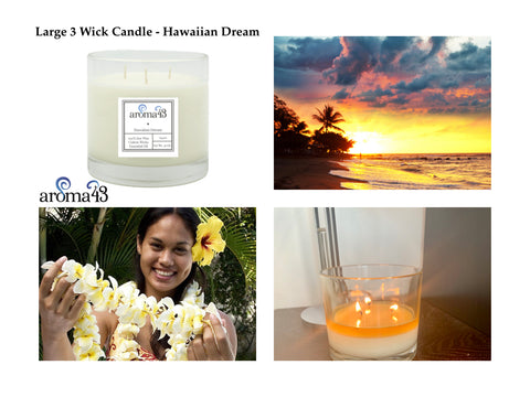 Hawaiian Dream Large 3 Wick Candle
