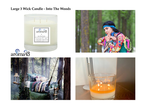 Into The Woods Large 3 Wick Candle