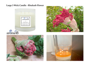 Rhubarb Flower Large 3 Wick Candle