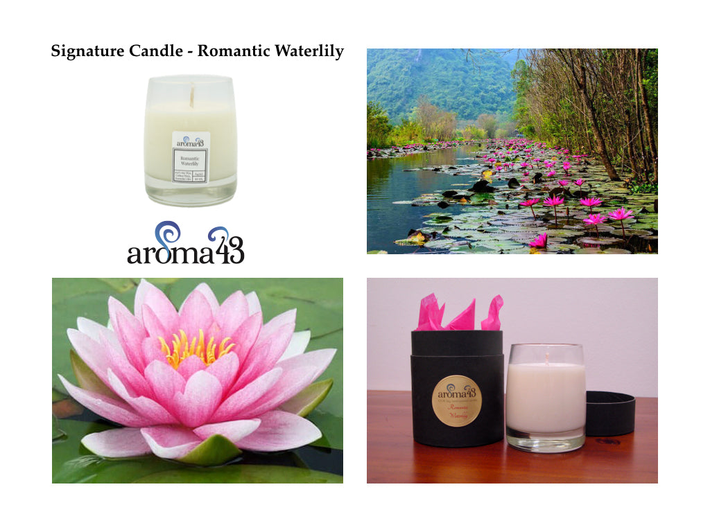 Romantic Waterlily Signature Candle