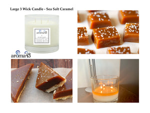 Sea Salt Caramel Large 3 Wick Signature Candle