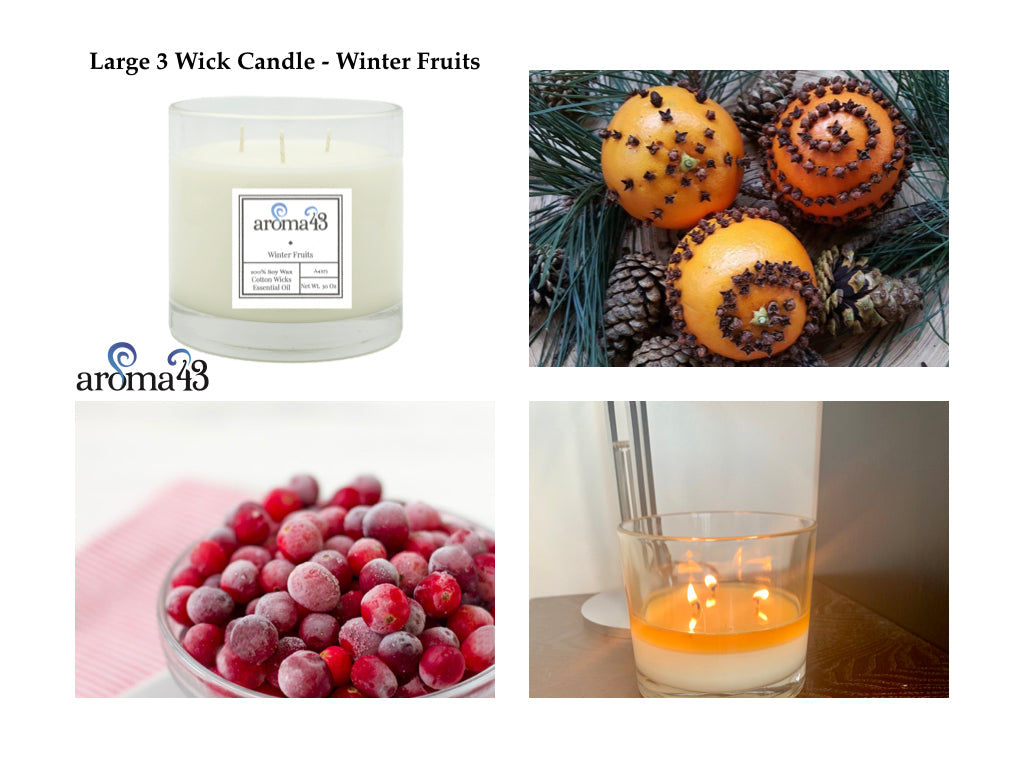 Winter Fruits Large 3 Wick Signature Candle