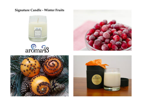 Winter Fruits Signature Candle