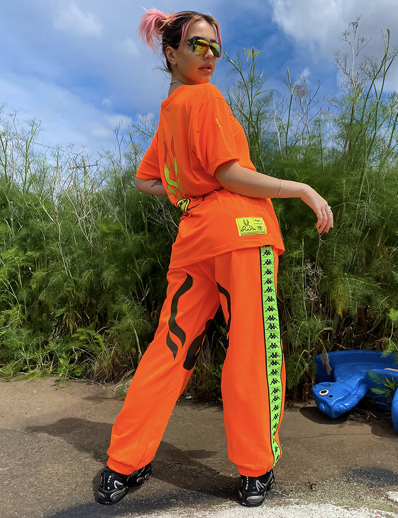 KAPPA X CYBERDOG RETRO JOGGERS - ORANGE