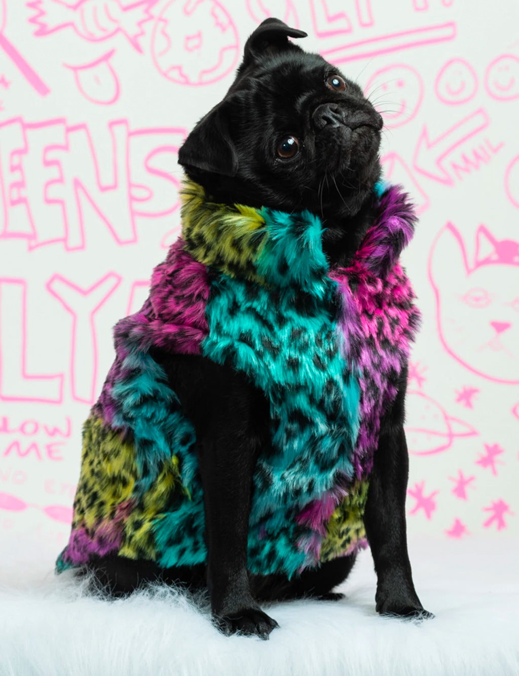 100s & 1000s FAUX FUR DOG JACKET