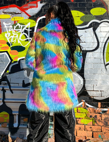 JELLY BEANS FAUX FUR JACKET *MADE TO ORDER*