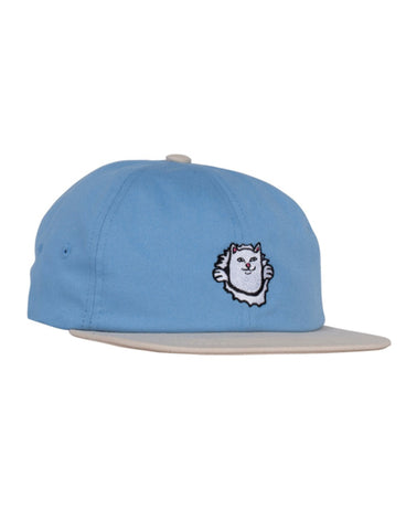 NERMAMANIAC 6 PANEL STRAPBACK - BABY BLUE/TAN