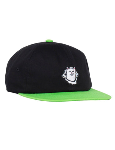 NERMAMANIAC 6 PANEL STRAPBACK - BLACK/GREEN
