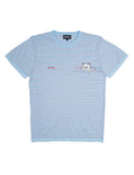 PEEKING NERMAL TEE - BABY BLUE/RED